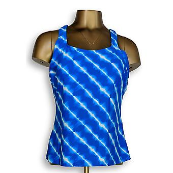 Ocean Dream Signature Swimsuit Island Tie Dye Tankini Top Blue A345669