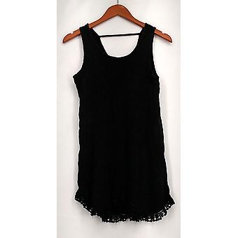 Indigo Thread Co. Top Enzyme Wash Thermal Knit Tank Black Womens A432503