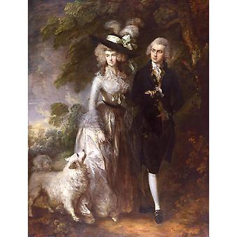 Mr.and Mrs.William Hallett,Thomas Gainsborough,50x38cm