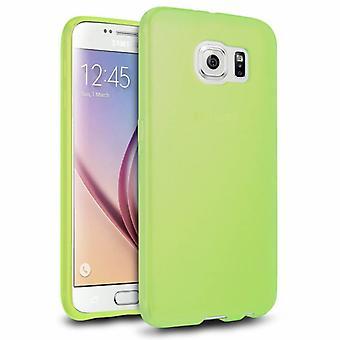 Samsung Galaxy S6 Silicone Green Case - CoolSkin3T
