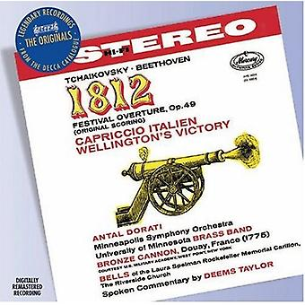 Tchaikovsky/Beethoven - Tchaikovsky: 1812 Festival Overture; Capriccio Italien; Beethoven: Wellington's Victory [CD] USA import