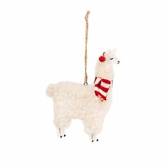 Sass and Belle Festive Llama Decoration | Gifts From Handpicked