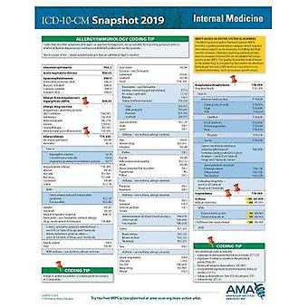 ICD-10-CM 2019 Snapshot Coding Card: Internal Medicine
