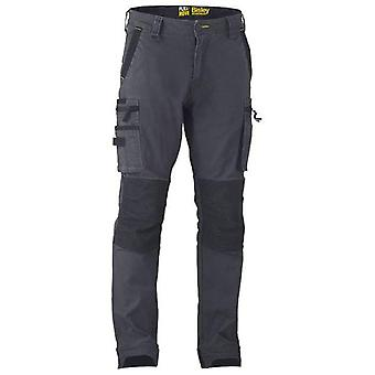 Bisley Flex & Move Stretch Utility Cargo Trousers With Kevla Waist 40R 102 Charcoal