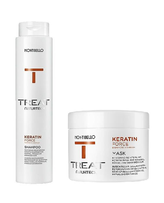 Montibello Naturtech Keratin Force Shampoo 300ml and Mask 200ml