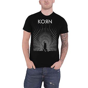 Korn T Shirt serenity of suffering Radiate Glow Band Logo Official Mens Black