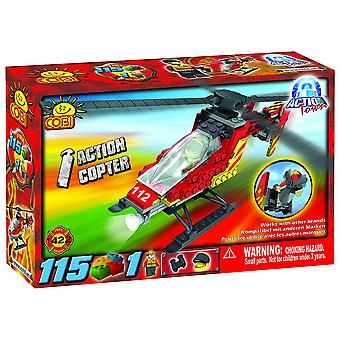 Action Town 115 pjäs brand Action Copter byggset