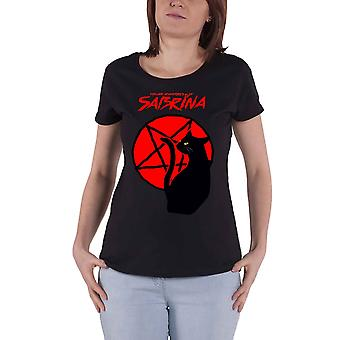 Sabrina The Teenage Witch T Shirt Salem Pentagram Official Womens Skinny Fit