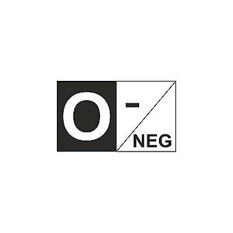 Autocollant Sticker Voiture Moto Vinyl Groupe Sanguin O+ O Negatif
