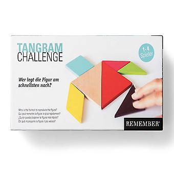 Kom ihåg Tangrams trä former och match spel från Kina