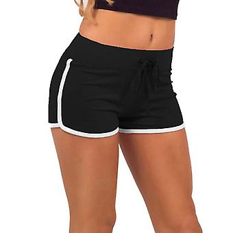 Women's training shorts-zwart-wit