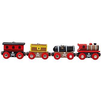 Bigjigs Rail-dřevěný pirátský vlak
