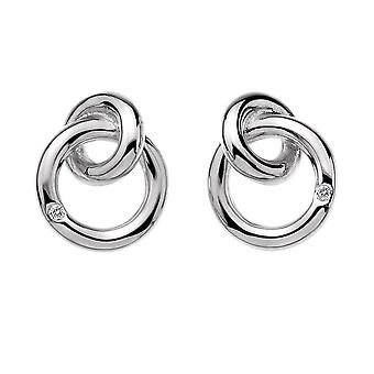 Hot Diamonds Eternity Interlocking Silver Stud Earrings DE308