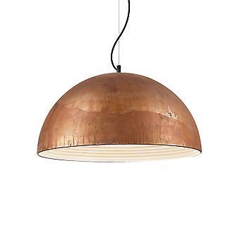 Ideale Lux Folk 1 Light Dome Deckenanhänger Licht verwittert IDL174228