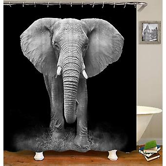 Schwarz und weiß Elefant Fotoshooting Duschvorhang