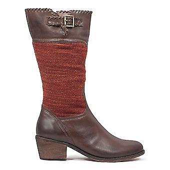 Festung der Inka Womens Sienna Gnade Leder Mandel Toe Mitte der Wade Cowboy-Stiefel