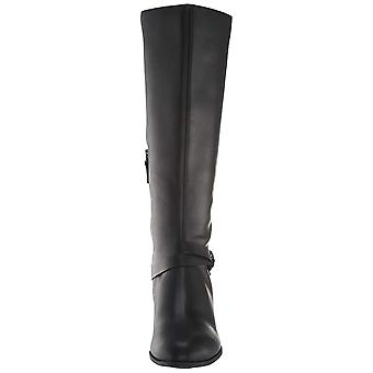 Dr. Scholl's Womens Baker Leather Round Toe Knee High Fashion Boots