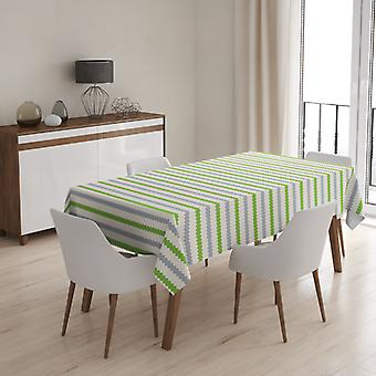 Meesoz Tafelkleed - Retro Horizontal Green