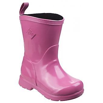 Muck Boots Bergen Mid Kids Rubber Wellington Boots Pink