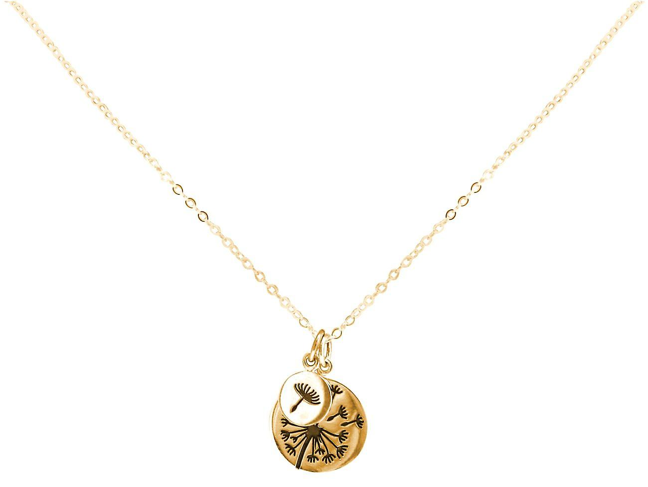 Gemshine Alpin Löwenzahn Pusteblume 925 Silber, hochwertig vergoldet oder rose