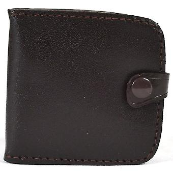 Real Leather Pocket Money Tray Purse Note and Coin Slots (Dark Brown)