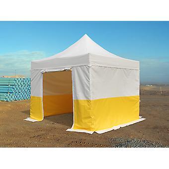 Quick-up telt FleXtents® PRO 3x3m, PVC, arbeidstelt, flammehemmende, inkl. 4 sidevegger
