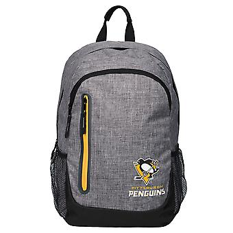 FOCO Backpack NHL Rucksack - GREY Pittsburgh Penguins