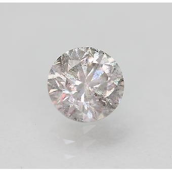 Cert 0.58 Carat Fancy Silver SI2 Round Brilliant Enhanced Natural Diamond 5.19mm