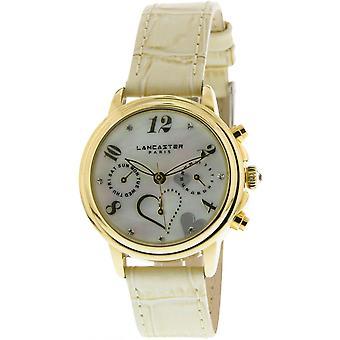 Lancaster watch watches MEZZO LPW00356 - watch MEZZO leather white woman