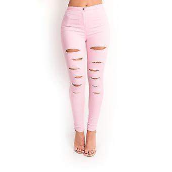 IKRUSH Womens Loucia Skinny Mid-Rise Ripped Jeans