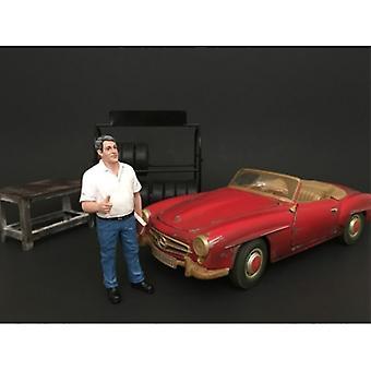 Mechaniker-Manager Tim Figur für 1:18 Maßstab Modelle von American Diorama