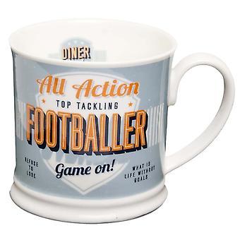 Diner Style Mugs Footballer