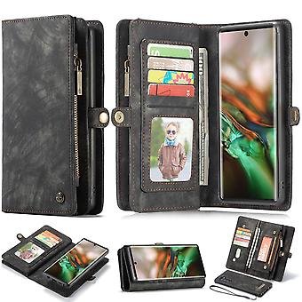 For Samsung Galaxy Note 10 Case, Wallet PU Leather Detachable Flip Cover, Black