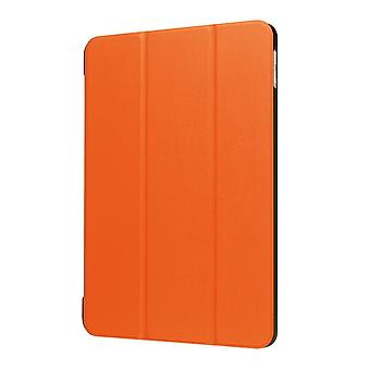 For iPad 2018,2017 9.7in Case,Stylish Karst Textured 3-fold Leather Cover,Orange