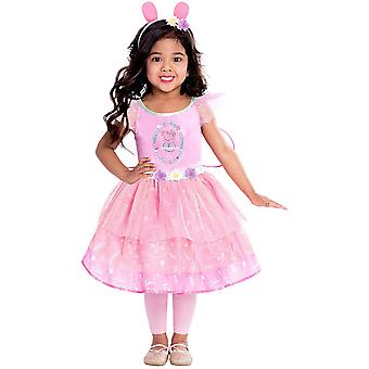 Peppa Wutz Princess Costume Rose Peppa Costume 3 pièces Kids Girl Peppa Robe