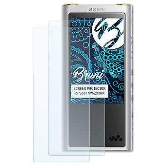 Bruni 2x Screen Protector kompatibel med Sony NW-ZX300 Beskyttelsesfilm