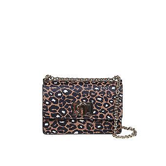 Furla 1048388 Women's Leopard Leather Shoulder Bag