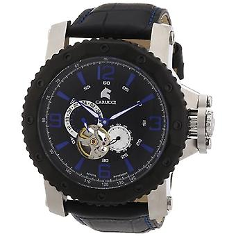 CAPA Watches CA2198LB-BK-wrist watch, man, skin, colour: black