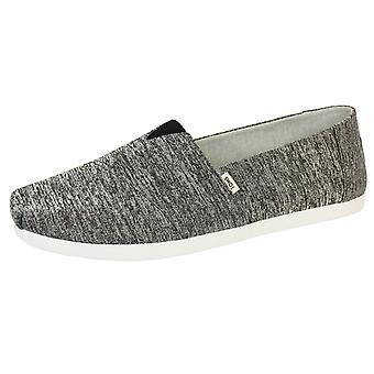 Toms men's black melange repreve classic knit shoes