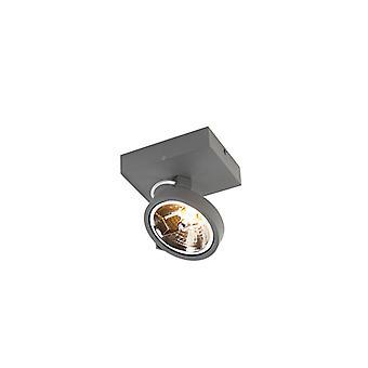QAZQA Design Strahler grau einstellbar 1-Licht inkl. LED - Go
