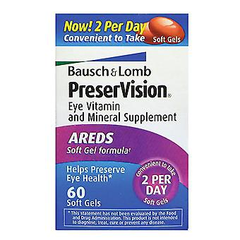 Bausch & lomb preservision eye vitamin, areds, softgels, 60 ea