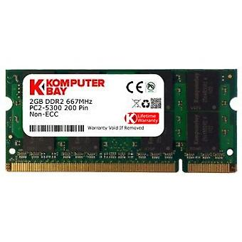Komputerbay 2GB DDR2 667MHz PC2-5300 PC2-5400 DDR2 667 (200 PIN) laptop memory SODIMM
