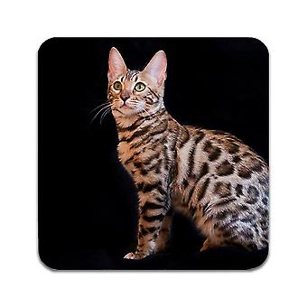 2 ST Cat Bengal Coasters