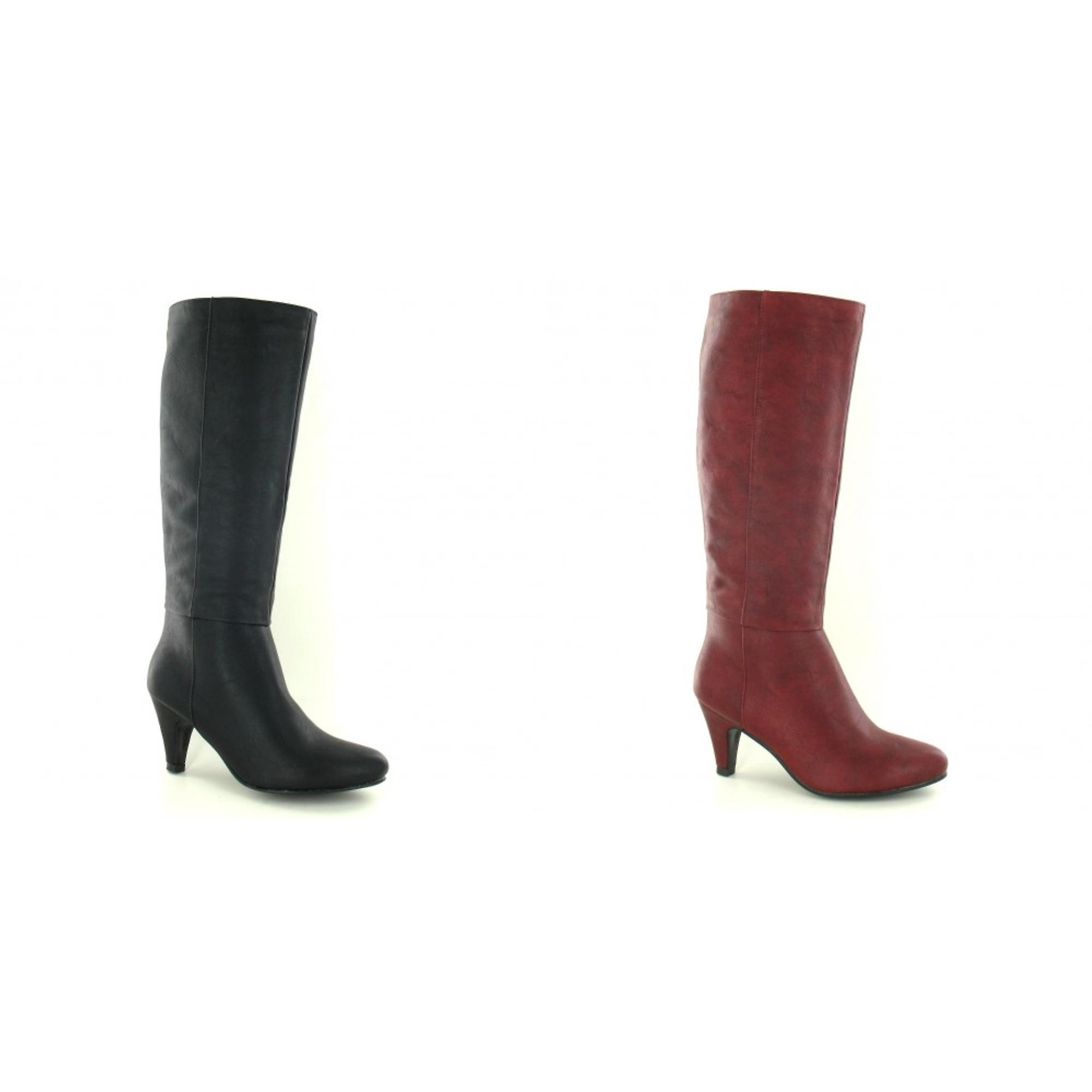 Spot On Womens/Ladies Mid Calf Heeled Boots nwXQp