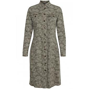 b.young Camouflage Shirt Dress