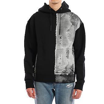 En kall vägg Acwmw011whlblak Män's Black Cotton Sweatshirt
