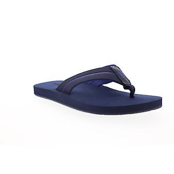 Tommy Bahama Fiji Mens Blue Slip Op Flip-Flops Sandals Schoenen