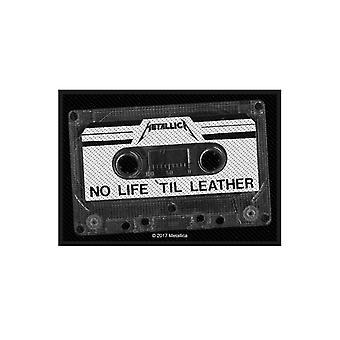 Oficial nuevo Metallica parche No vida Til cuero Band Logo tejido coser 10x7cm