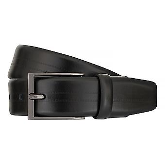 Strellson belts men's belts leather belt Flexbelt black 7560