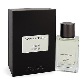 Banaanitasavallan pellavavetiver eau de parfum spray (unisex) banaanitasavallalla 550994 75 ml